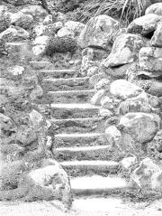 Powerscourt Stairs Pointillism