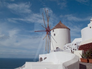 Windmill of Oia, Santorini, Greece