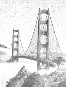 Golden Gate Bridge Dipped in Fog