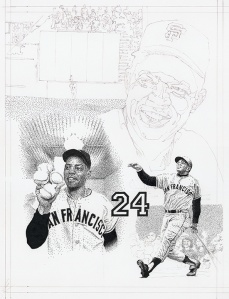 Willie Mays Jr. Portrait (in progress)