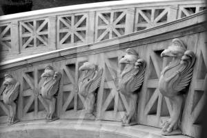 Athens_Library_Steps_BW