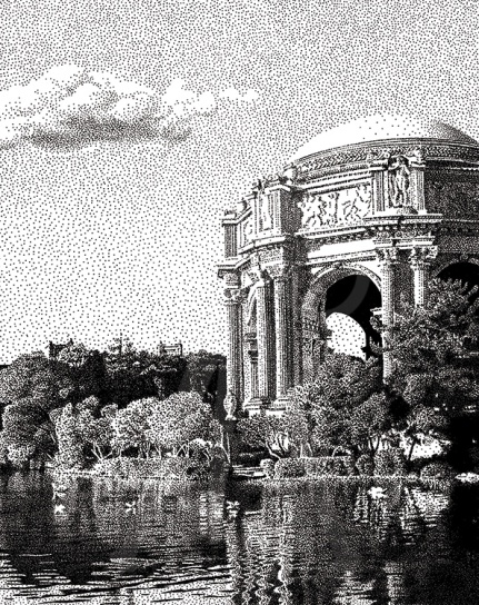 Palace of Fine Arts, San Francisco - B/W