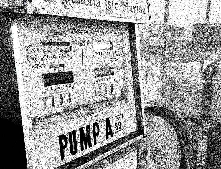Alameda Ballena Isle Marina Gas Pump