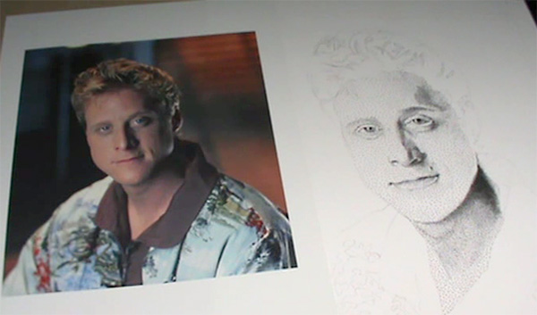 Video screenshot from Alan Tudyk stippling video